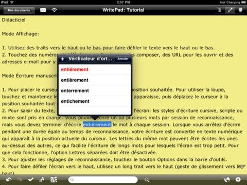 writepad-correcteur