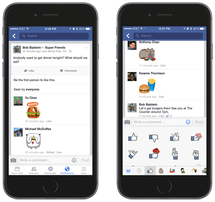 Facebook-iOS-autocollantes-commentaires