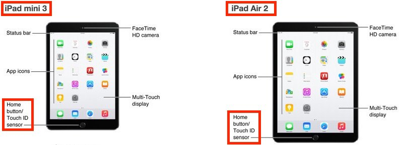 iPad Air 2 & iPad Mini 3 Touch ID