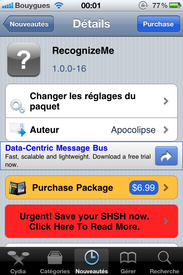 IMG 0442 - RecognizeMe enfin disponible sur Cydia !