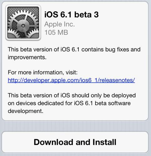 Jailbreak iOS 6.1 Bêta 3 Tethered Redsnow disponible
