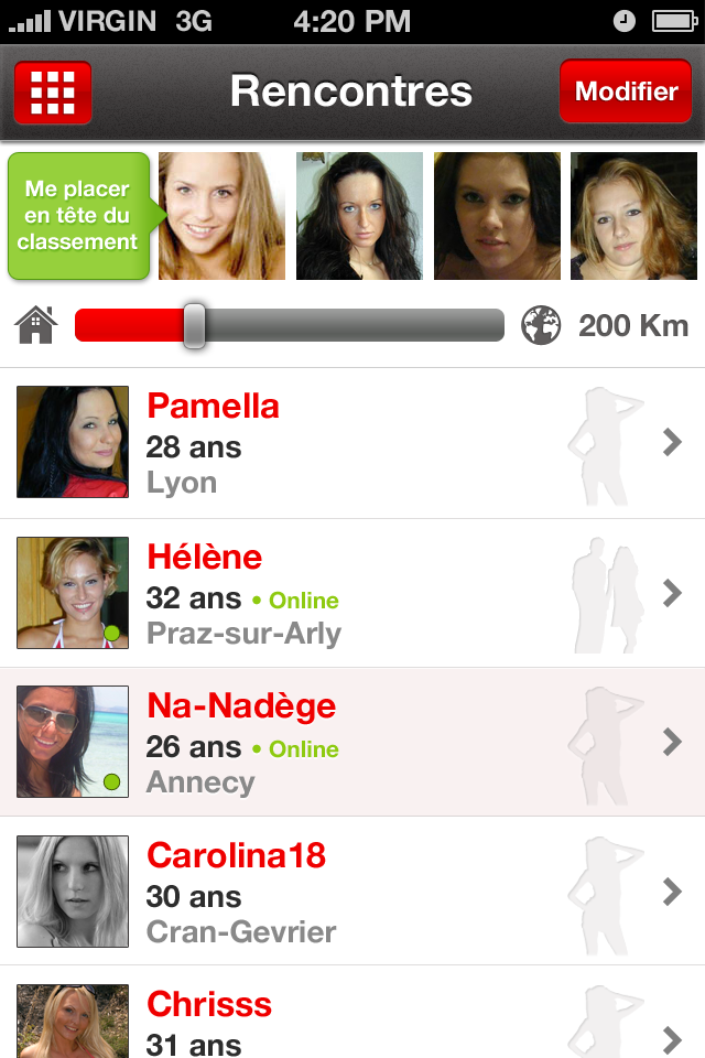 Application rencontre geolocalisation iphone