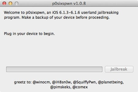 P0sixspwn : Jailbreak iOS 6.1.6 Untethered (iPhone 3GS & iPod Touch 4G)