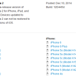 iOS 8.2 bêta 2 disponible sur iPhone, iPad & iPod Touch