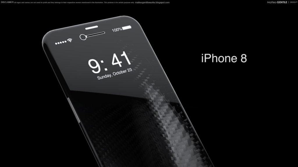 Matteo Gentile iphone 8 concept 5 1024x576 - Concept : un iPhone 8 sans bordure, par Matteo Gentile
