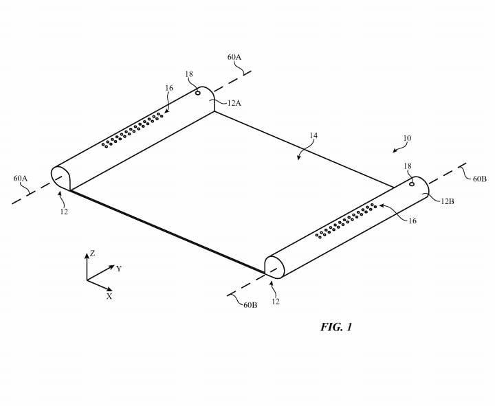 Brevet Apple : un écran OLED rétractable semblabe à un parchemin