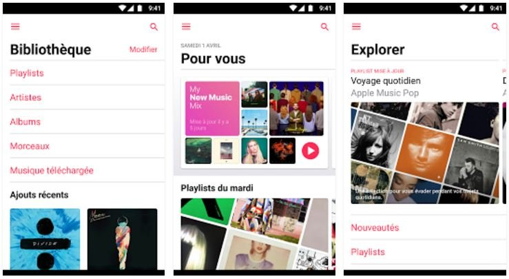 apple music android 2 0 - Apple Music 2.0 : l'application Android se rapproche de celle d'iOS