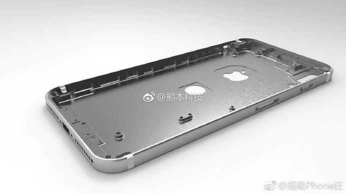 iphone 8 chassis rendu weibo 3 - iPhone 8 : des rendus du châssis avec le Touch ID à l'arrière