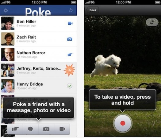 facebook poke - Facebook supprime le clone de Snapchat, Poke, et Appareil Photo