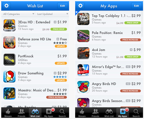 appshopper - AppShopper Social : l'application de retour sur l'App Store