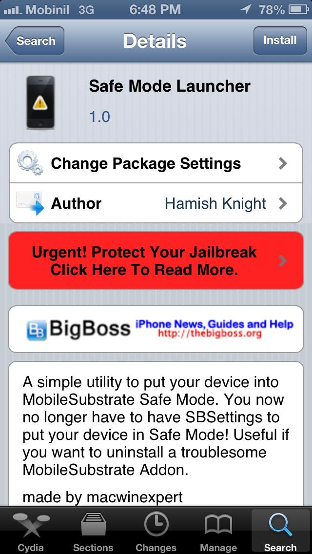 safe mode launcher - Tutoriel : mettre son iPhone, iPad, iPod Touch en Safe Mode