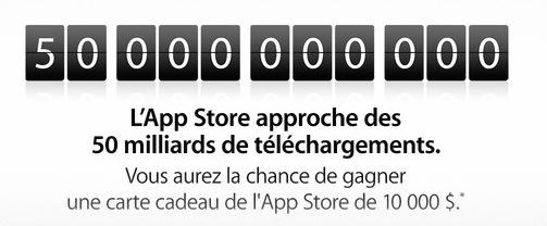 AppStore 50 Milliards - App Store : bientôt 50 milliards de téléchargements
