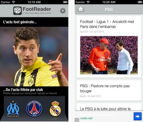 footreader - Foot Reader : News, mercato et live football dans la poche
