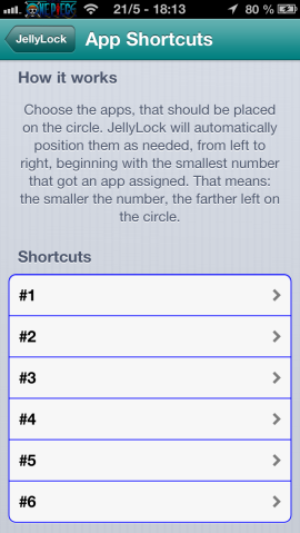 jellylock shortcuts