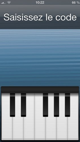 piano passcode - Piano Passcode : déverrouiller son iPhone en musique