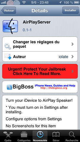 airplayserver cydia