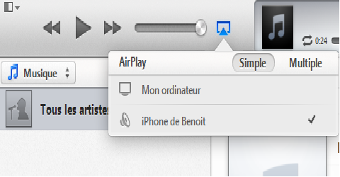 airplayserver itune - AirPlayServer : transformer son iPhone en enceinte sans fil