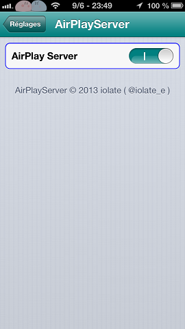 airplayserver reglages
