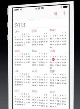 iOS-7-Calendrier