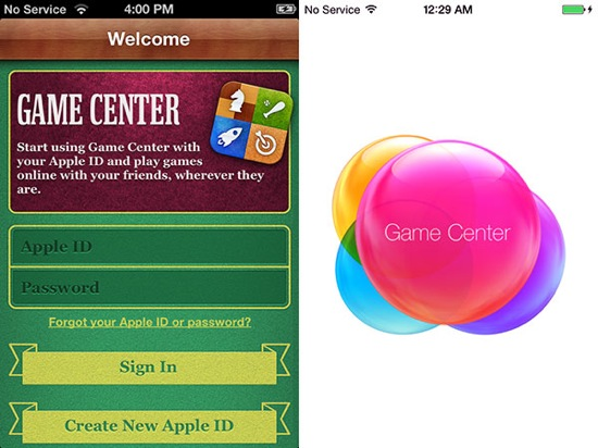 iOS 7 vs iOS 6 Game Center - iOS 7 vs iOS 6 : le comparatif visuel