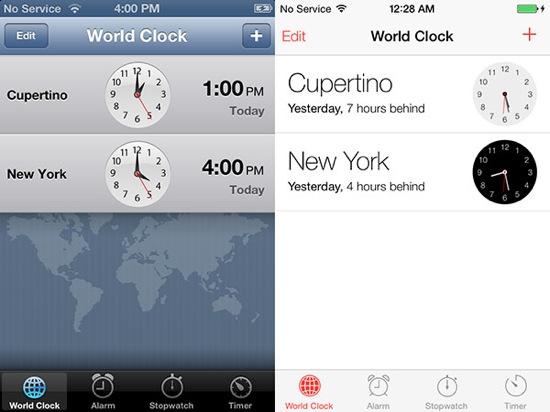 iOS-7-vs-iOS-6-Horloge