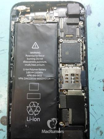 iPhone 5S photo interieur - iPhone 5S : photos de la façade arrière et de l'intérieur ?