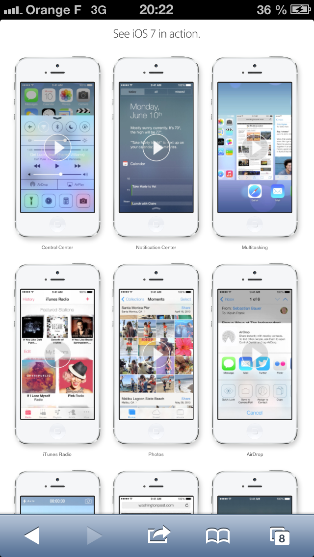 tester ios 7 iphone - Tester iOS 7 sur iPhone, iPad et iPod Touch sans installation