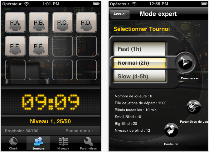 bwin poker clock iphone - Bwin Poker Clock : organiser facilement un tournoi de poker