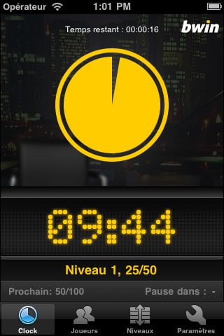 bwin poker clock - Bwin Poker Clock : organiser facilement un tournoi de poker