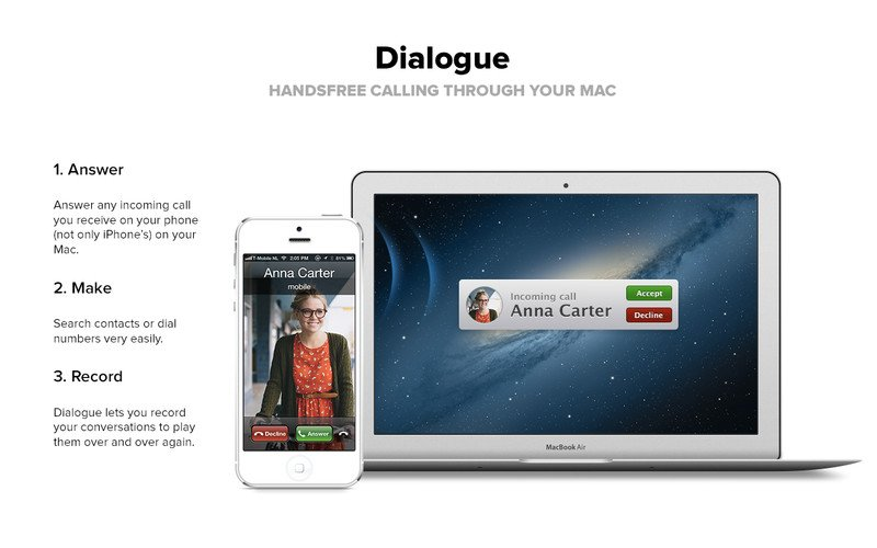 dialogue mac - Dialogue : émettre, recevoir et enregistrer des appels sur Mac