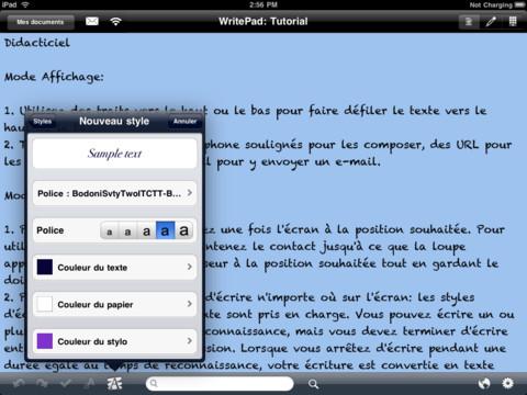 writepad 2 - WritePad : la prise de notes avancée sur iPad
