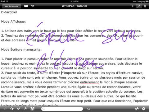 writepad app store - WritePad : la prise de notes avancée sur iPad