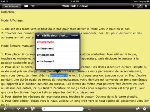 writepad correcteur - WritePad : la prise de notes avancée sur iPad