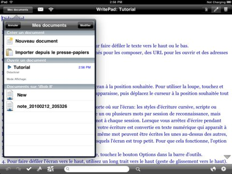 writepad ipad - WritePad : la prise de notes avancée sur iPad