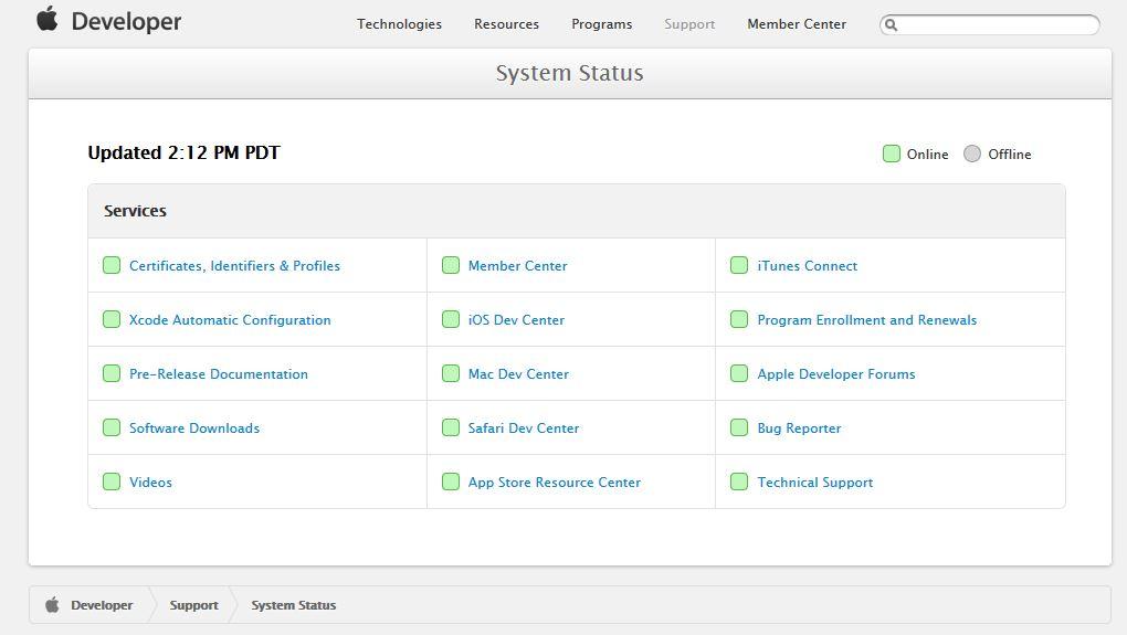 apple dev center - Apple : le Dev Center de nouveau fonctionnel à 100%