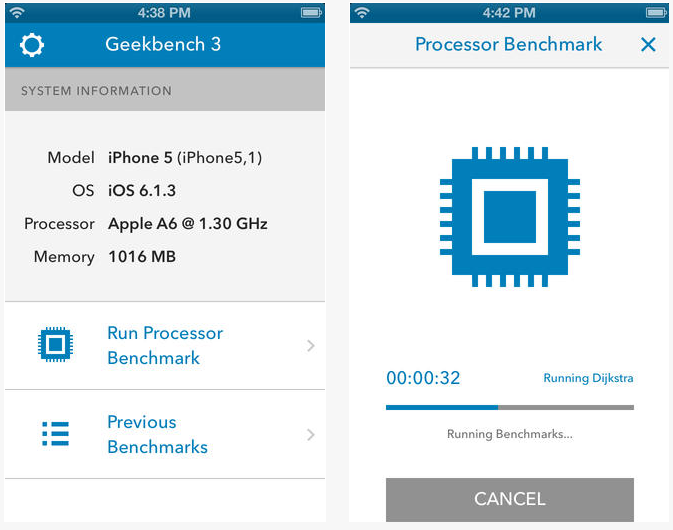 geekbench 3 iOS - Geekbench 3 disponible sur iOS et le Mac App Store