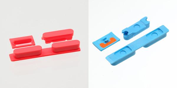 iPhone 5C boutons rouges bleus - iPhone 5C : photos de boutons colorés et modèle vert