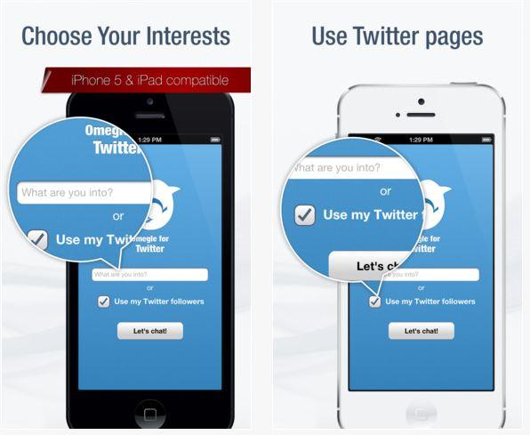 omegle pour twitter - Chatroulette iPhone : Top 5 des applications gratuites de l'App Store