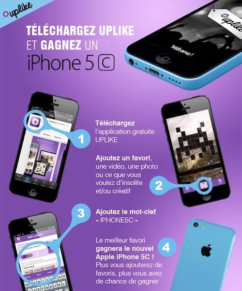 concours uplike iphone 5c - Uplike : tous vos bookmarks dans une seule application
