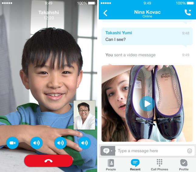 skype ios 7 - Skype s'adapte à son tour à iOS 7