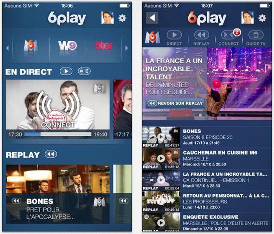 6play - 6Play : M6, W9 & 6Ter en une seule application