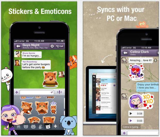 """VIBER 4 - Viber 4 : nouveaux stickers et fonction """"appuyer pour parler"""""""