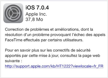 ios 7.0.4 - iOS 7.0.4 disponible sur iPhone, iPad, iPod Touch