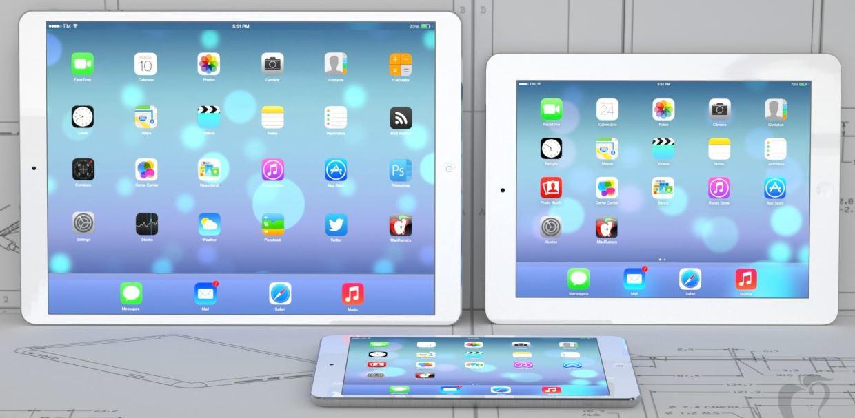 ipad grand format 129 pouces - Apple testerait deux iPad 12,9 pouces 2K et 4K
