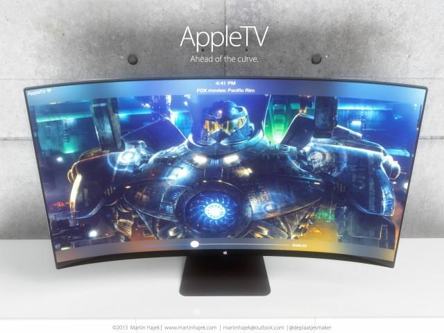 itv appletv concept - iTV : concept avec écran incurvé