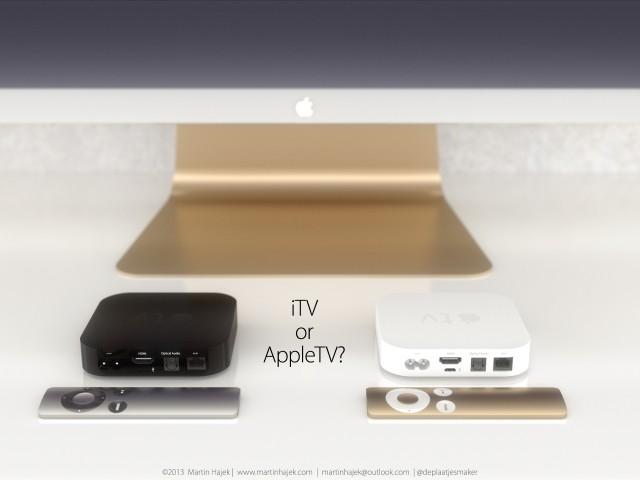 itv ou apple tv - iTV : concept avec écran incurvé