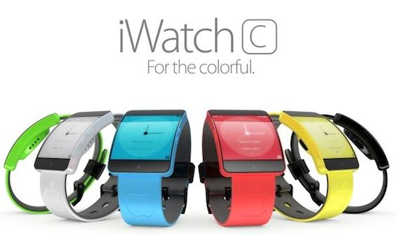 iwatch c - iWatch C : concept de montre Apple en couleur