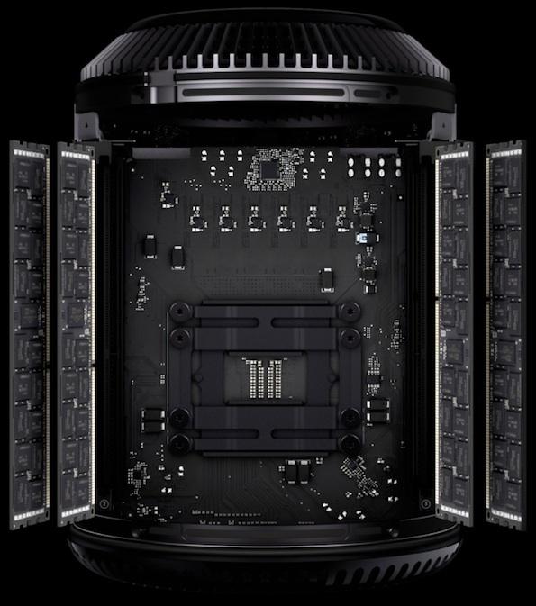 demontage mac pro - Mac Pro : son démontage révèle un processeur Intel « amovible »