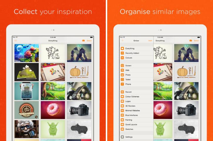 ember ios - Ember : collecter et organiser ses idées sur iOS