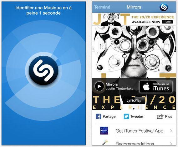 shazam 7.2 - Shazam : ajout de Shazam Auto sur iPhone et iPod Touch
